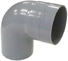 CODO PVC GRIS 87.5°
